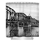 Railroad Bridge -bw Shower Curtain