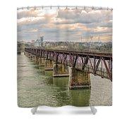 Railroad Bridge3 Shower Curtain