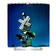 Railroad Crossing Shower Curtain