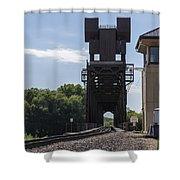 Railroad Lift Bridge 2 C Shower Curtain
