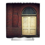Railroad Museum Door Shower Curtain
