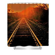Railroad  Surreal Perspective IIi Shower Curtain