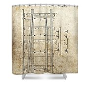 Railroad Switch Patent Shower Curtain