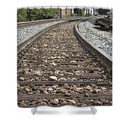 Railroad Tracks Shower Curtain by Danielle Allard