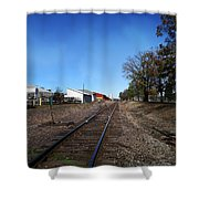 Railroad Tracks Switch Station Shower Curtain
