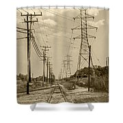 Rails And Wires Shower Curtain