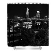 Rails Roads And Rust In Monochrome Shower Curtain