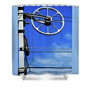 Railway Catenary Shower Curtain