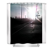 Railway Morning Shower Curtain