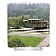 Railway Station On Mountain Vintage Shower Curtain