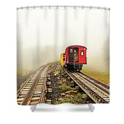 Railway To The Summit Shower Curtain