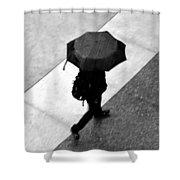 Running In The Rain Shower Curtain