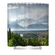 Rain And Fire Shower Curtain