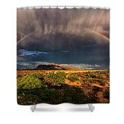 Rain And Rainbows  Shower Curtain