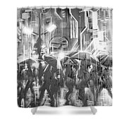 Rain And Wet. Shower Curtain