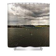 Rain Arrives Before Tall Ships Shower Curtain