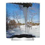 Rain Barrel Icicle Shower Curtain