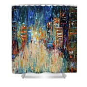Rain Dance Blues Shower Curtain