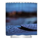 Rain Droplets On Bench Shower Curtain