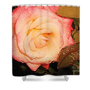 Rain Flower Rose Shower Curtain