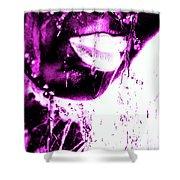 Rain Hot Pink Shower Curtain