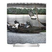 Rain In Bangladesh- An Acrylic Painting Shower Curtain