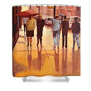 Rain In Manhattan Number Eighteen Shower Curtain