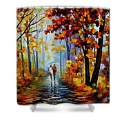 Rain In The Woods Shower Curtain