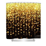 Rain Of Lights Christmas Or Party Background Shower Curtain