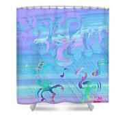Rain Of Smiling Shower Curtain