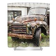 Rain On Rust 1 Shower Curtain