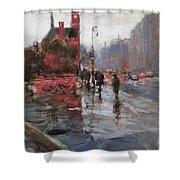Rain On Sixth Avenue Shower Curtain