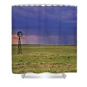 Rain On The Plains Shower Curtain
