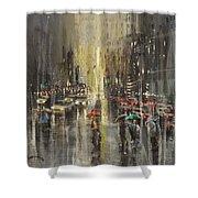 Rain On Wisconsin Avenue Shower Curtain