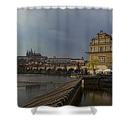 Rain Over Prague Shower Curtain