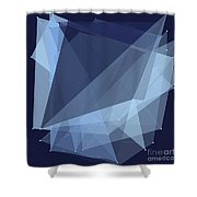 Rain Polygon Pattern Shower Curtain