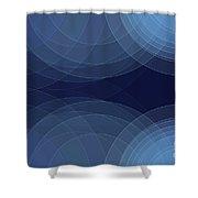 Rain Semi Circle Background Horizontal Shower Curtain