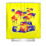 Rain Showers Shower Curtain