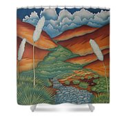 Rain Trail Shower Curtain