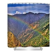 Rainbow Across Canyon Shower Curtain
