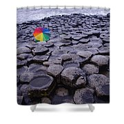 Rainbow At Giant's Causeway Shower Curtain