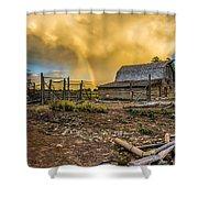 Rainbow At Moulton Barn Shower Curtain