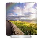 Rainbow At  Seaside Shower Curtain