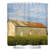 Rainbow Barn Shower Curtain