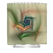 Rainbow Basic Flower Shower Curtain