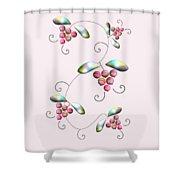 Rainbow Berries Shower Curtain