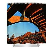Rainbow Bridge Sunrise Shower Curtain