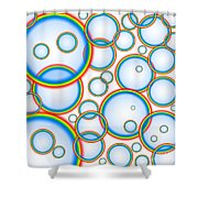 Rainbow Bubbles Shower Curtain