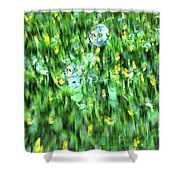 Rainbow Bubbles On The Grass Shower Curtain