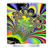 Rainbow Butterfly Bouquet Fractal Abstract Shower Curtain